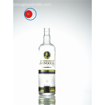 Narrow Mouth Grand Mongolia Kaan Vodka Bottle